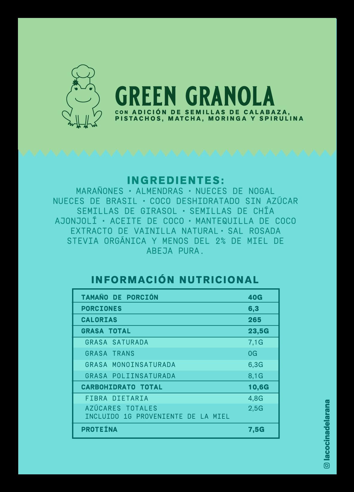 Green granola
